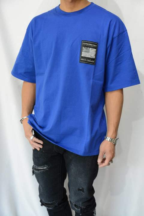3FLAGS TEE (BLUE) 78000107 FORSOMEONE