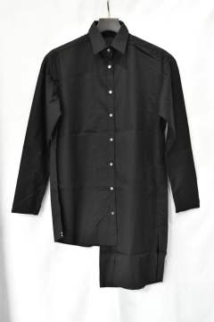 Cotton Slash Shirt (Black)