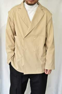 BIC PATCH POCKET 2WAY JACKET (BEIGE)