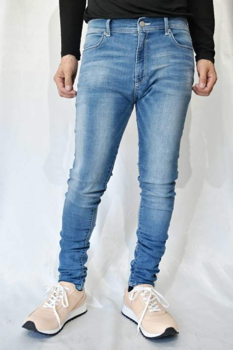 stretch tight DENIM PANTS (light indigo) LiS-910952 LISS